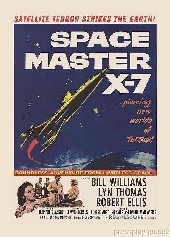 Space Master X-7: DVD, 1958, Bill Williams, Moe Howard (Of The Three Stooges) , Rarely Seen 50s Sci-Fi Horror product photo