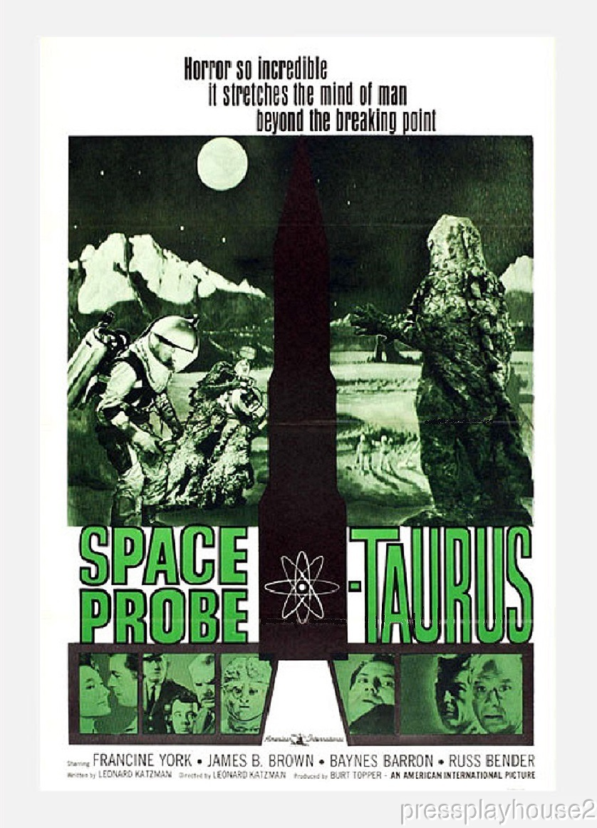 Space Probe:Taurus: DVD, 1965, Francine York, Russ Bender, Rare Sci-Fi Horror product photo