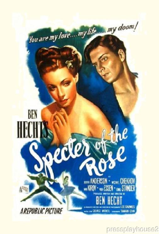 Specter of The Rose: DVD, 1946, Judith Anderson, Billy Gray, Michael Chekhov product photo