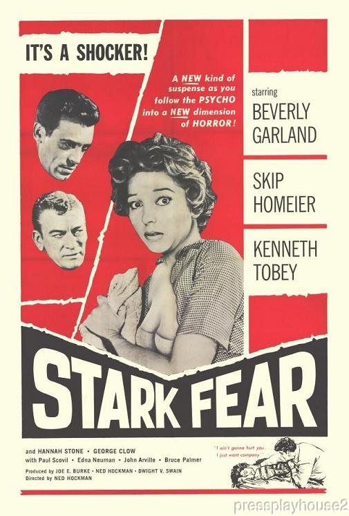 Stark Fear: DVD, 1963, Beverly Garland, Skip Homeier, Kenneth Tobey, Gritty Melodrama product photo