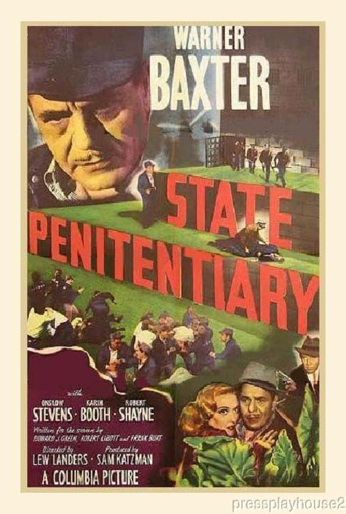 State Penitentiary: DVD, 1950, Warner Baxter, Rarely Seen Prison Crime Film!! product photo