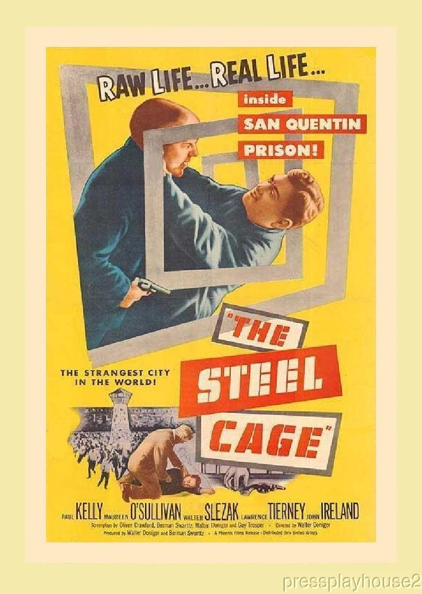 The Steel Cage: DVD, 1954, Lawrence Tierney, Maureen O'Sullivan, Rare 50s Crime Gem! product photo