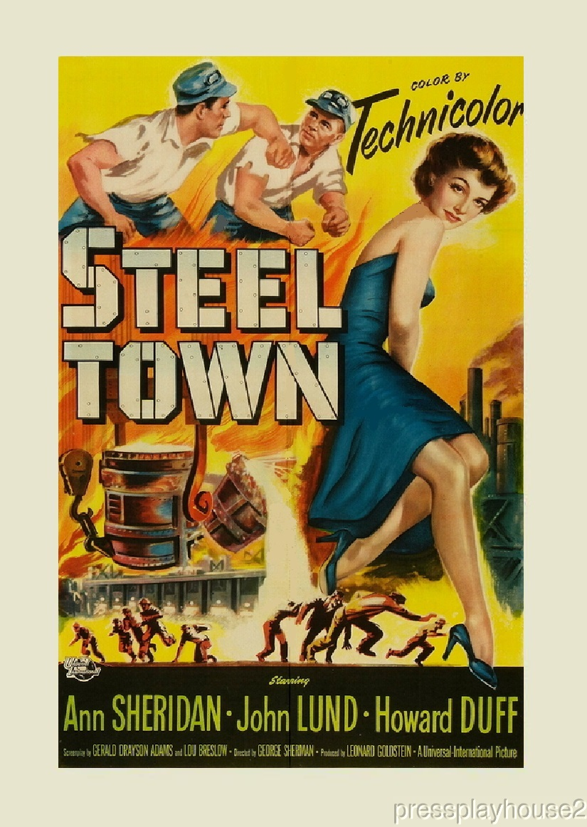 Steel Town: DVD, 1952, Howard Duff, John Lund, Ann Sheridan, Rarely Seen Melodrama product photo