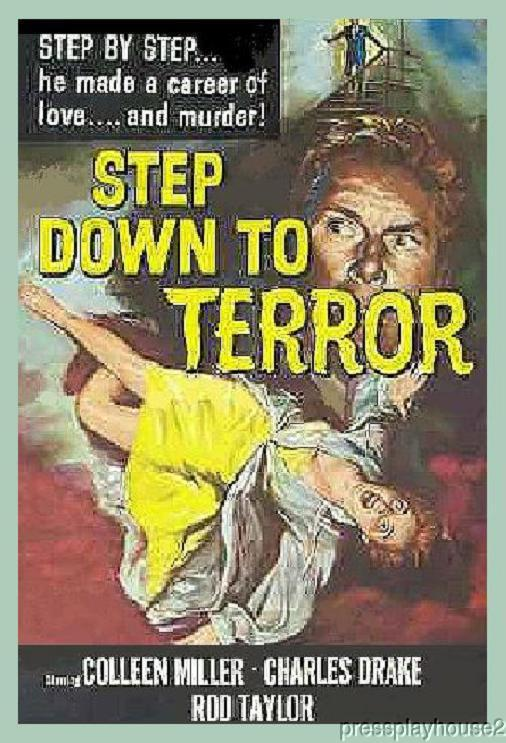 Step Down To Terror: DVD, 1958, Colleen Miller, Rod Taylor, Rare Crime Thriller!! product photo