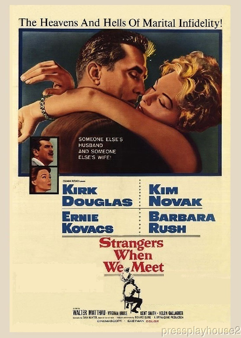 Strangers When We Meet: DVD, 1960, Kirk Douglas, Kim Novak, Ernie Kovacs, Barbara Rush, Widescreen product photo