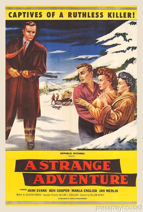 A Strange Adventure: DVD, 1956, Marla English, Nick Adams, Rare 50s Crime Thriller product photo