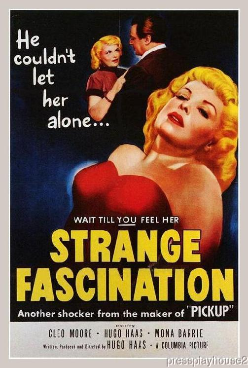 Strange Fascination: DVD, 1952, Cleo Moore, Hugo Haas, Rare Film Noir product photo
