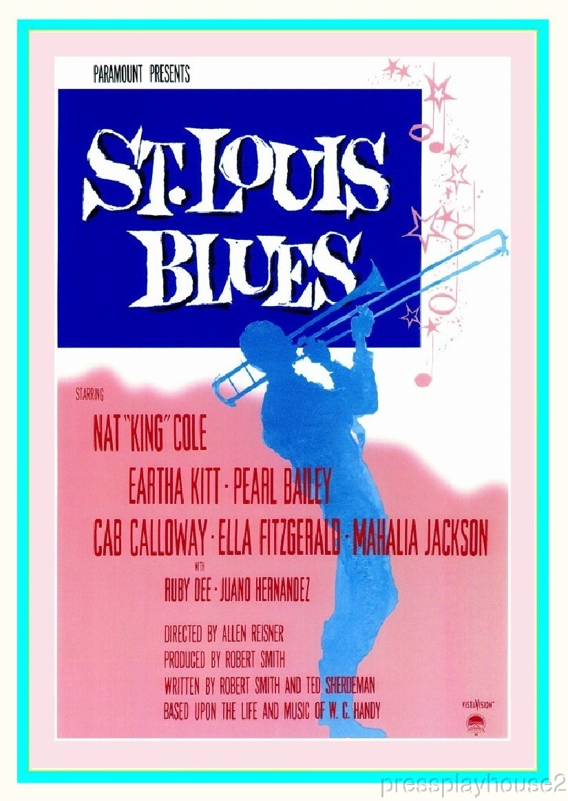 St. Louis Blues: DVD, 1958, Nat King Cole, Eartha Kitt, Ruby Dee, Pearl Bailey, A Must See product photo