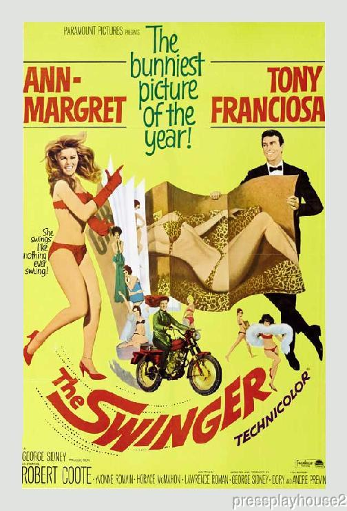 The Swinger: DVD, 1966, Ann Margret, Anthony Franciosa, Yvonne Romain, 60s Sex Comedy! product photo