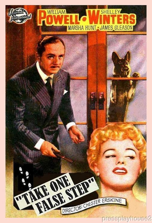 Take One False Step: DVD, 1949, William Powell, Shelley Winters, Rare Mystery Thriller product photo