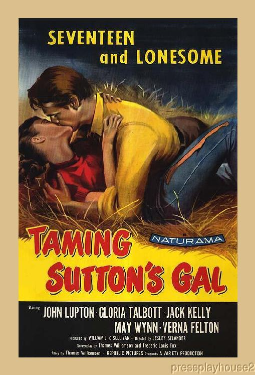 Taming Sutton's Gal: DVD, 1957, Jack Kelly, Gloria Talbot, Rare Hillbilly Comedy, Widescreen product photo