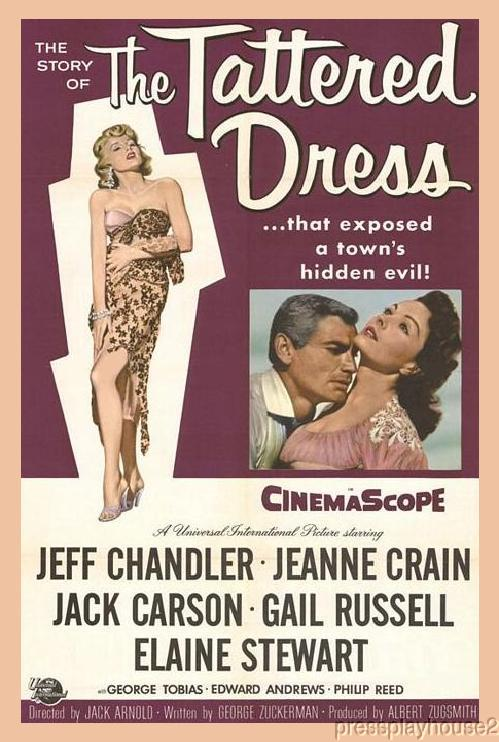 The Tattered Dress: DVD, 1957, Jeff Chandler, Jeanne Crain, Gail Russell product photo