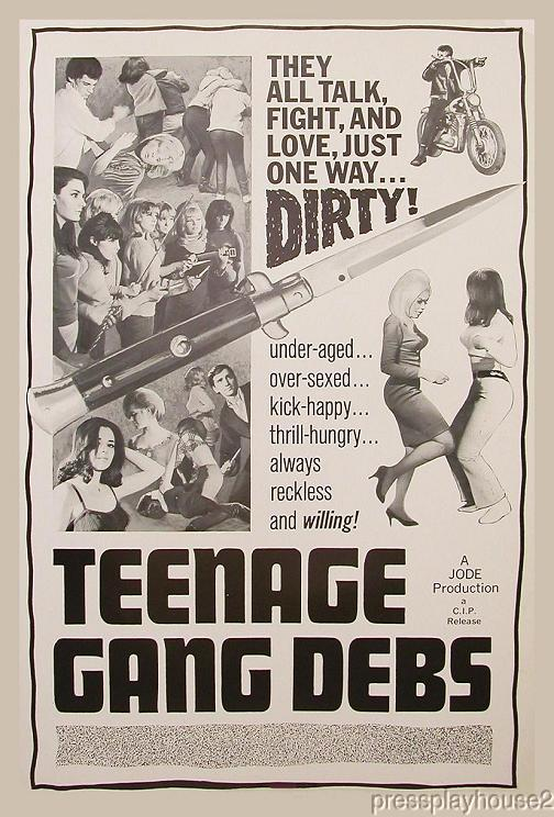 Teenage Gang Debs: DVD, 1966, Diane Conti, Tough Inner City Teen Gang Gem~A Must See! product photo