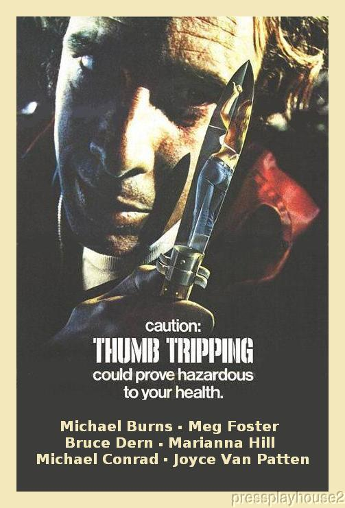 Thumb Tripping: DVD, 1972, Michael Burns, Bruce Dern, Rare 70s Exploitation Melodrama product photo