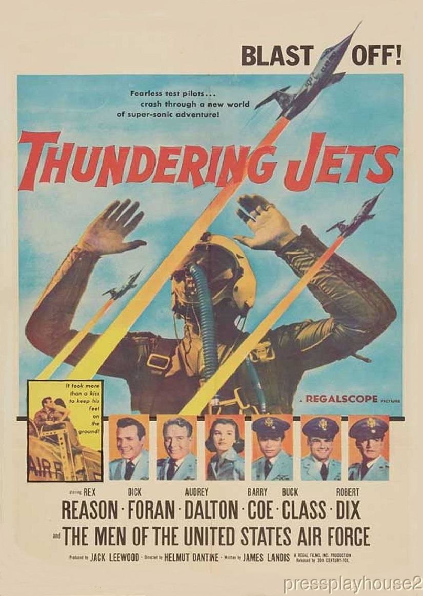 Thundering Jets: DVD, 1958, Rex Reason, Audrey Dalton, Dick Foran, Robert Conrad, Widescreen product photo