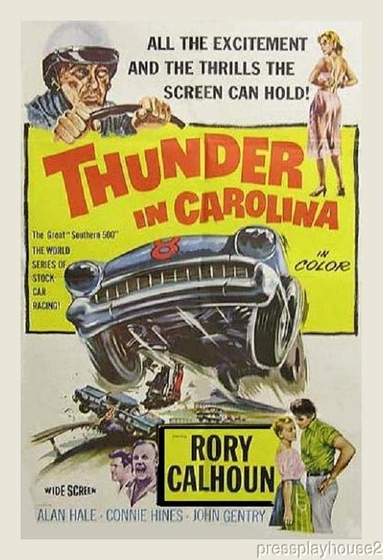 Thunder In Carolina: DVD, 1960, Rory Calhoun, Connie Hines, Alan Hale, Stock Car Racing Action product photo