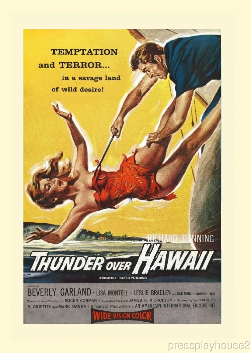 Thunder Over Hawaii: DVD, 1957, Beverly Garland, Richard Denning, Dick Miller, Rare Roger Corman Film product photo