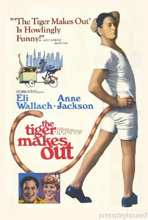 The Tiger Makes Out: DVD, 1967, Eli Wallach, Anne Jackson, Bob Dishy, Widescreen product photo