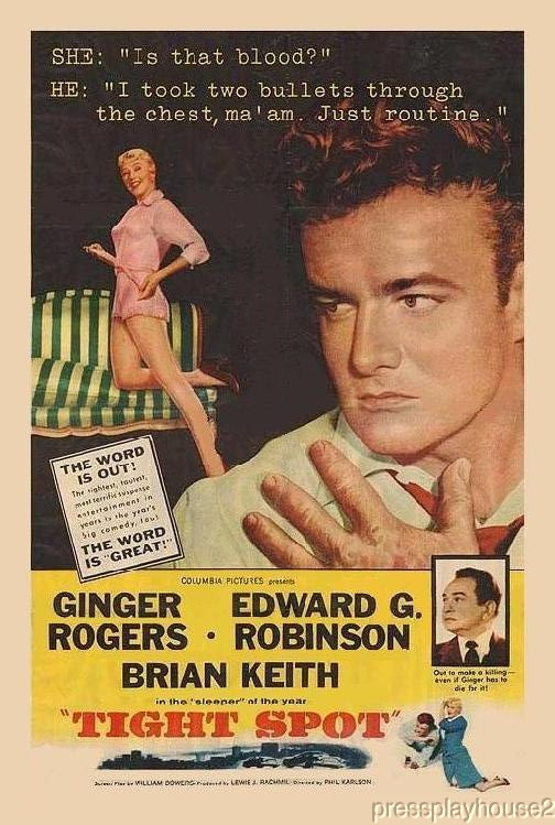 Tight Spot: DVD, 1955, Edward G.Robinson, Ginger Rogers, Widescreen product photo
