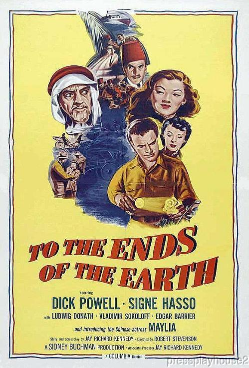 To The Ends of The Earth: DVD, 1948, Dick Powell, Signe Hasso, John Hoyt product photo