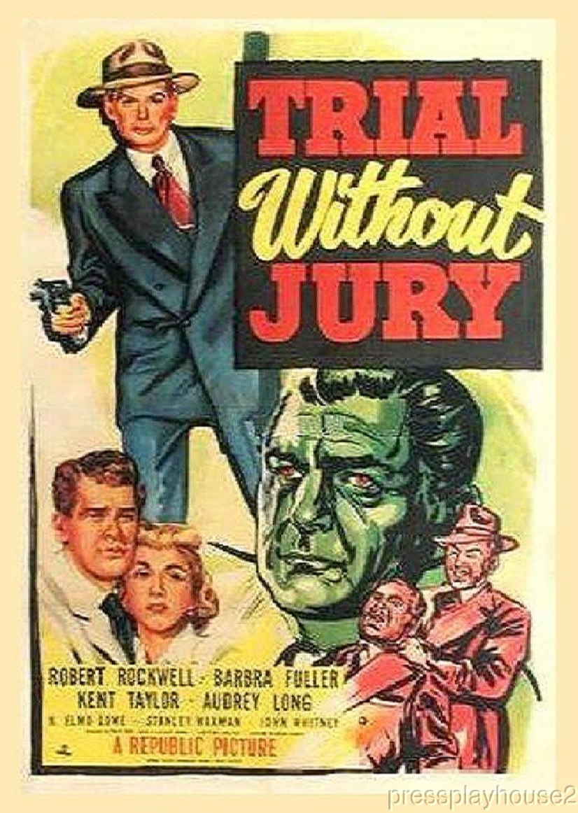 Trial Without Jury: DVD, 1950, Barbara Billingsley, Kent Smith, Rare Crime Drama product photo