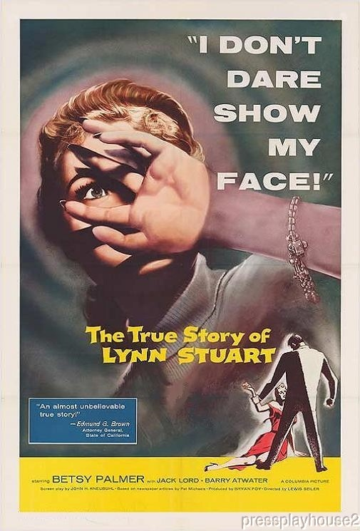The True Story of Lynn Stuart: DVD, 1958, Jack Lord, Betsy Palmer, Rare 50s Crime product photo
