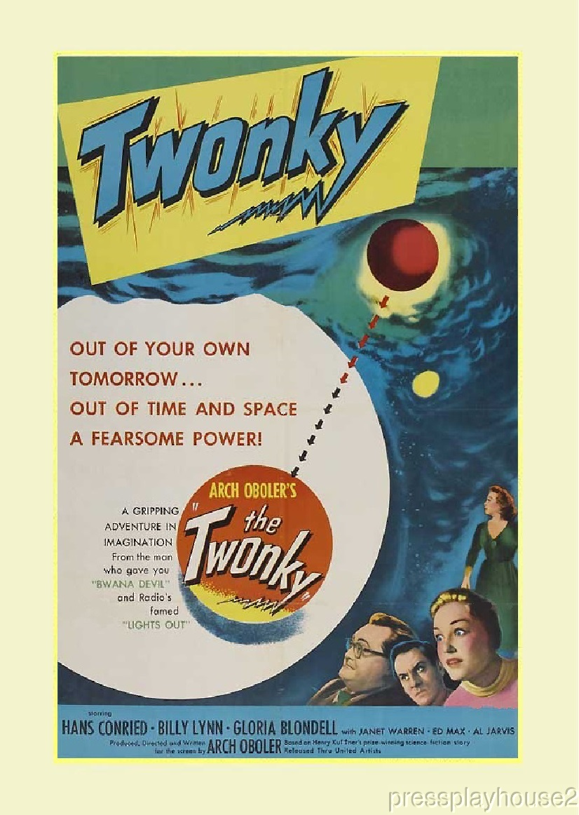 The Twonky: DVD, 1953, Hans Conried, Arch Oboler Classic Sci-Fi Comedy, Fascinating Period Piece product photo
