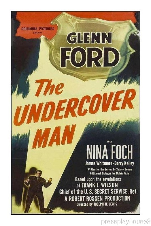 The Undercover Man: DVD, 1949, Glenn Ford, Nina Foch, James Whitmore product photo