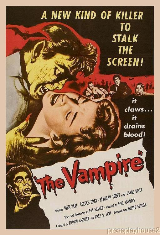 The Vampire: DVD, 1957, John Beal, Coleen Gray, Kenneth Tobey, Widescreen product photo