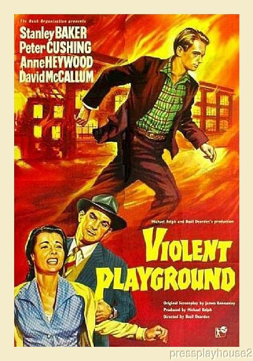 Violent Playground: DVD, 1958, David McCallum, Peter Cushing, Rarely Seen 50s Liverpool JD Classic product photo