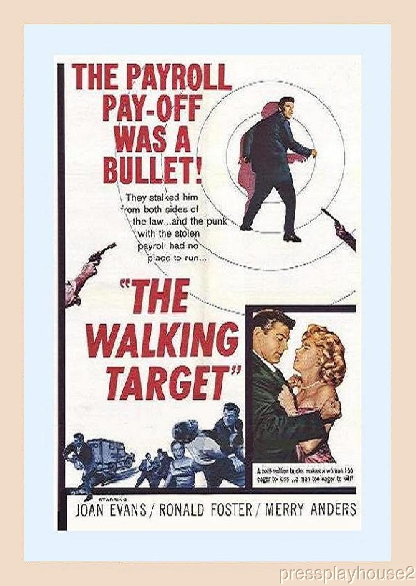 The Walking Target: DVD, 1960, Ron Foster, Merry Anders, Rare Crime, Widescreen product photo