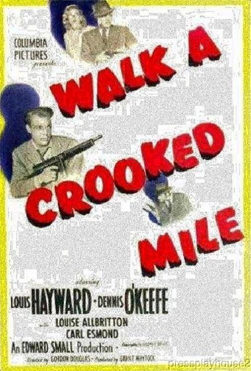 Walk A Crooked Mile: DVD, 1948, Dennis O'Keefe, Raymond Burr, Reed Hadley, Rare 50s Crime! product photo