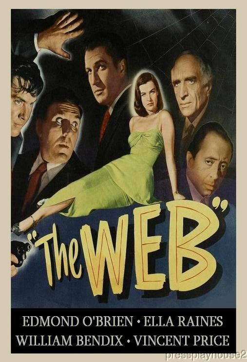 The Web: DVD, 1947, William Bendix, Edmond O'Brien, Vincent Price, Rare Film Noir product photo
