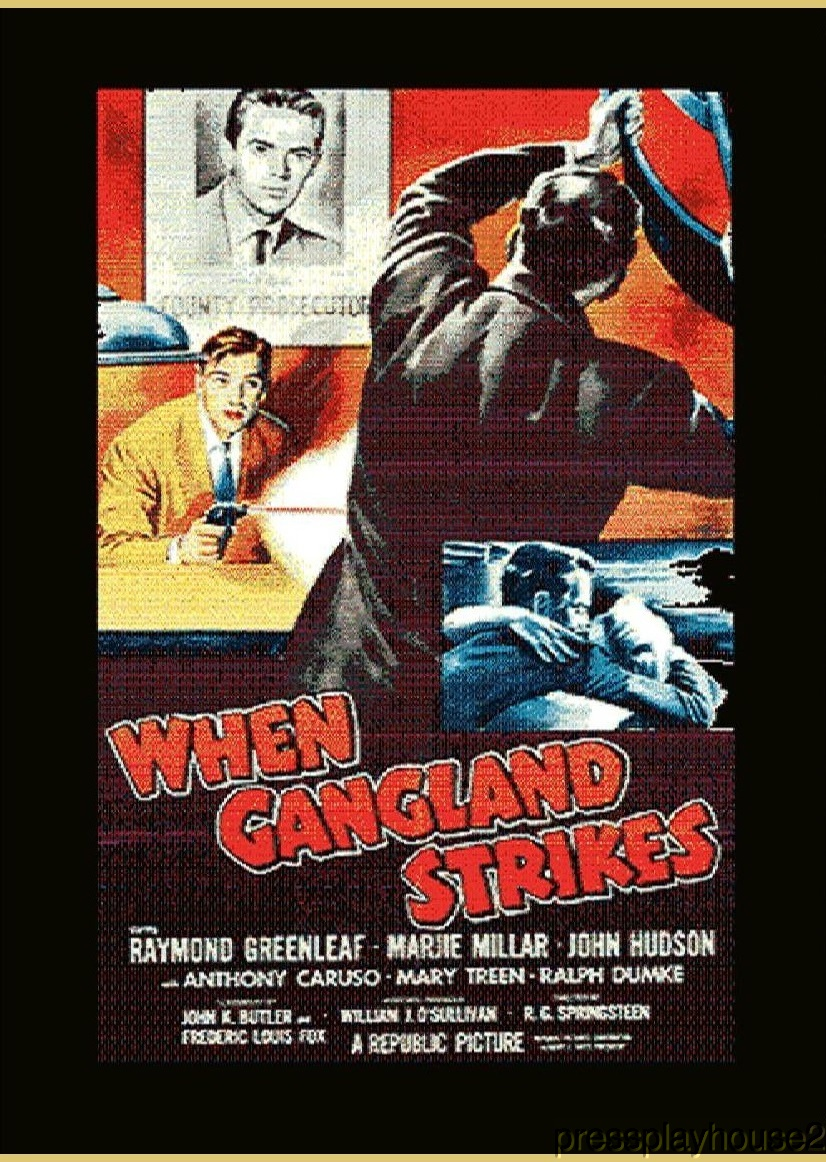 When Gangland Strikes: DVD, 1956, Raymond Greenleaf, Anthony Caruso, Rare 50s Crime! product photo