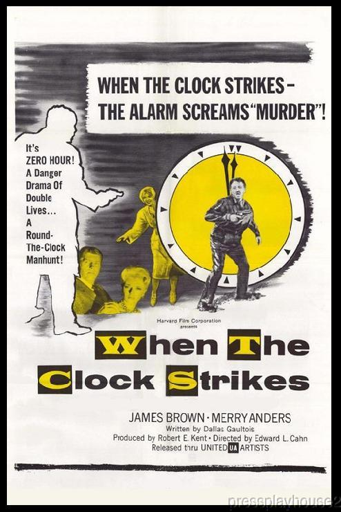When The Clock Strikes: DVD, 1961, Merry Anders, Rarely Seen 60s Crime product photo