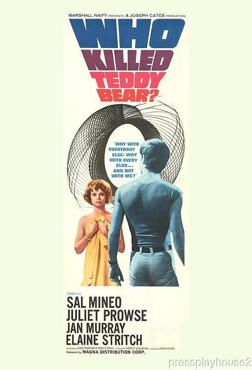 Who Killed Teddy Bear?: DVD, 1965, Sal Mineo, Juliet Prowse, Uncut!, 94 Minute Version product photo