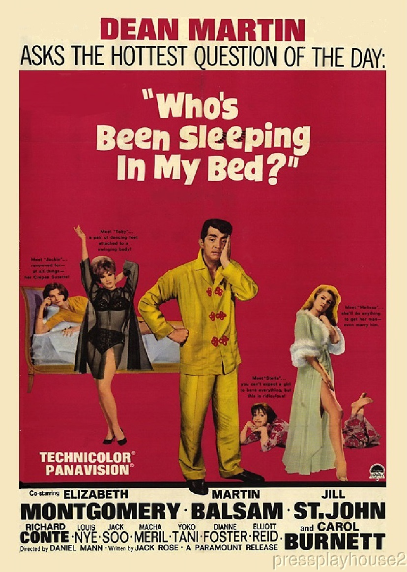 Who's Been Sleeping In My Bed?: DVD, 1963, Dean Martin, Elizabeth Montgomery, Widescreen product photo