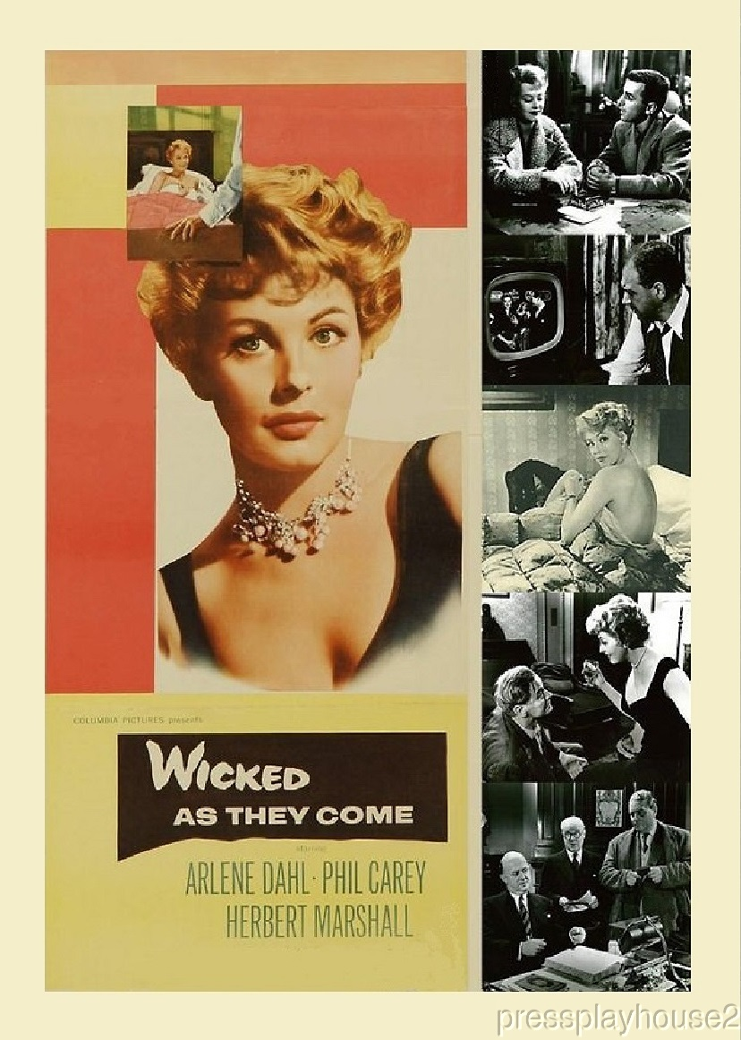 Wicked As They Come: DVD, 1956, Arlene Dahl, Philip Carey, Widescreen, Top-Notch UK Crime Mystery product photo