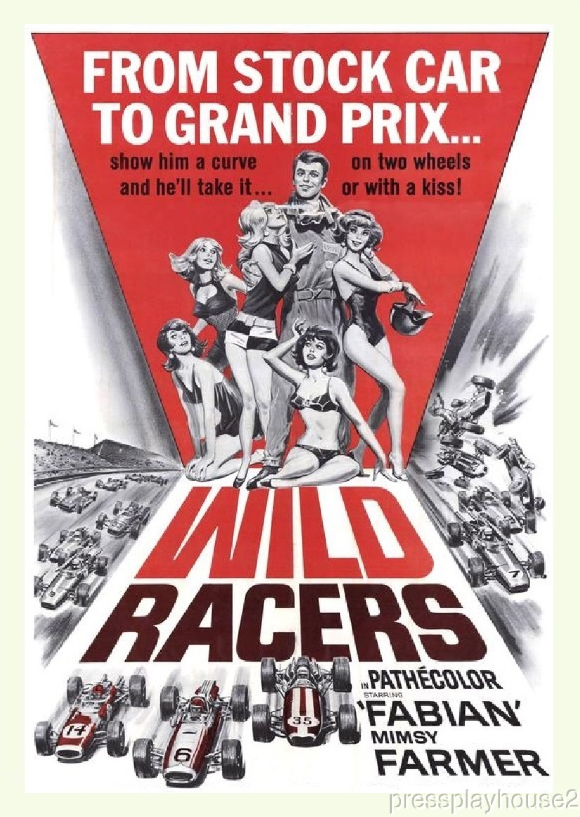 The Wild Racers: DVD, 1968, Fabian, Mimsy Farmer, Race Car Action, Widescreen product photo