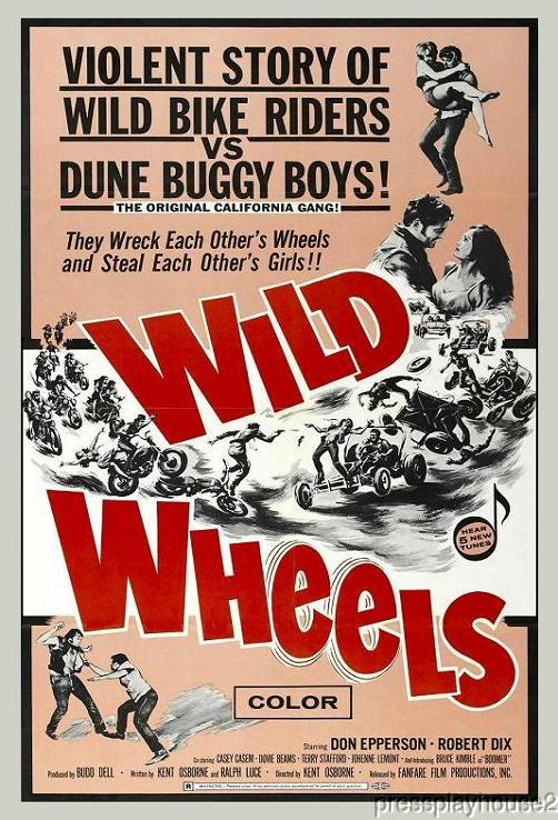 Wild Wheels: DVD, 1969, Casey Kasem, Terry Stafford, Wild Biker Madness product photo