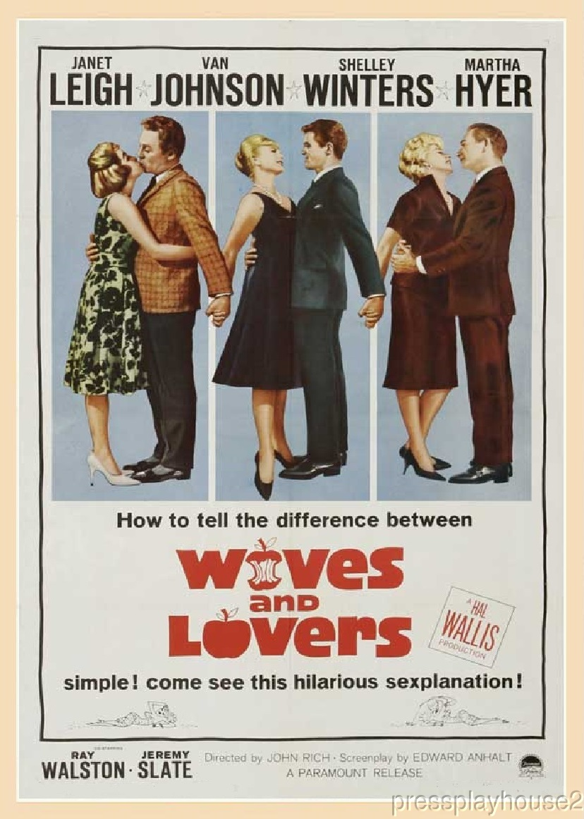 Wives and Lovers: DVD, 1963, Janet Leigh, Van Johnson, Shelley Winters, Ray Walston product photo