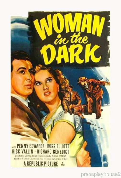 Woman In The Dark: DVD, 1952, Barbara Billingsley, Richard Benedict, Rare 50s Crime product photo