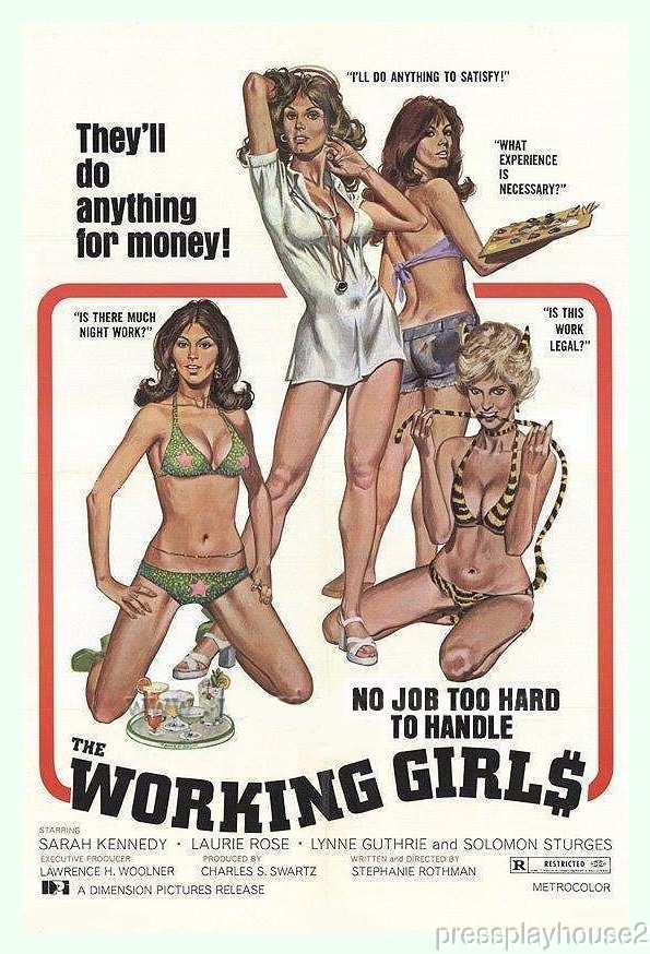 The Working Girls: DVD, 1974, Sarah Kennedy, Elvira, 70s Sexploitation Rarity product photo