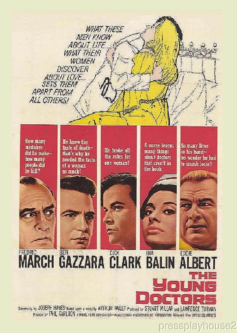 The Young Doctors: DVD, 1961, Ben Gazzara, Dick Clark, Ina Balin, Frederick March, All-Star Cast, Widescreen product photo