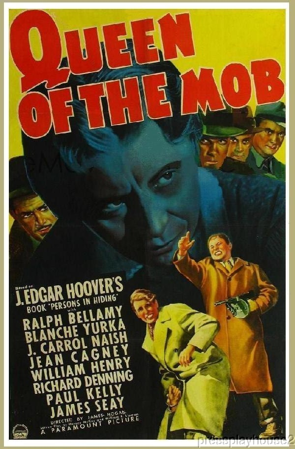 Queen of The Mob: DVD, 1940, Ralph Bellamy, Blanche Yurka, J. Carrol Naish, Rarely Seen Crime Film product photo