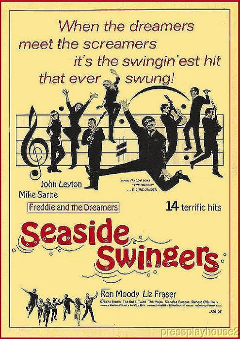 Seaside Swingers: DVD, 1965, Freddie & The Dreamers, John Leyton, Liz Fraser, The Mojos, UK Rocker product photo