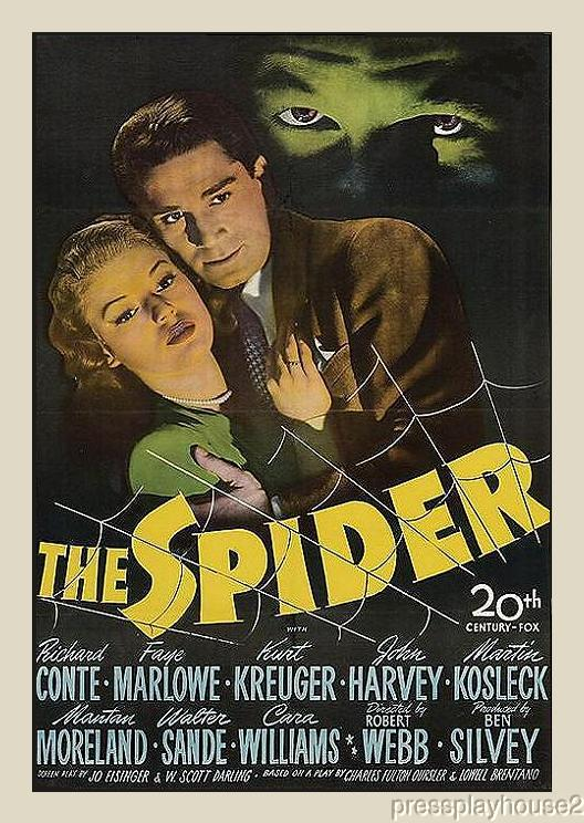 The Spider: DVD, 1945, Richard Conte, Cara Williams, Rare Crime Mystery product photo