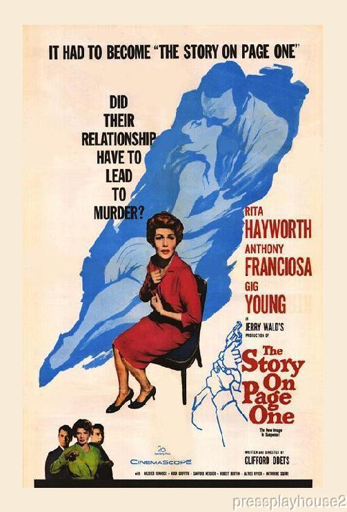 The Story On Page One: DVD, 1959, Rita Hayworth, Gig Young, Tony Franciosa, Uncut Rarity product photo